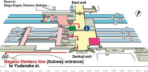 Nagano Station Map