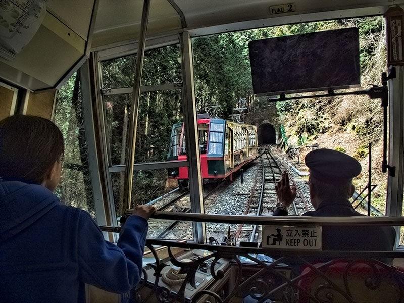 Enryakuji cable car up Mt Hiei