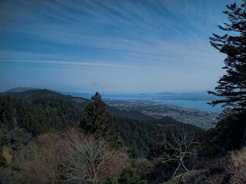 Enryakuji view from the cable car station over Lake Biwa