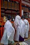 Kannushi at Fushimi Inari Shrine