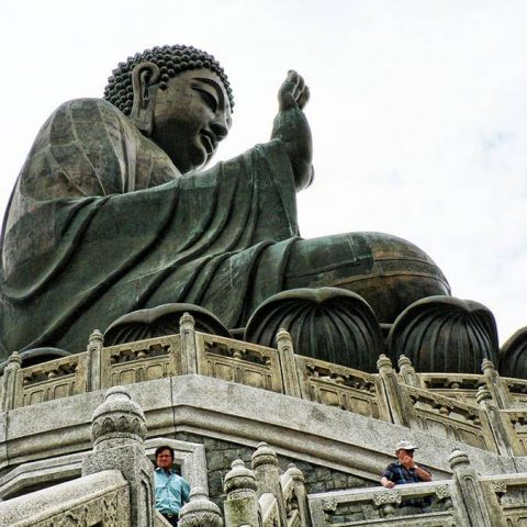 The Great Buddha statue in Hong Kong