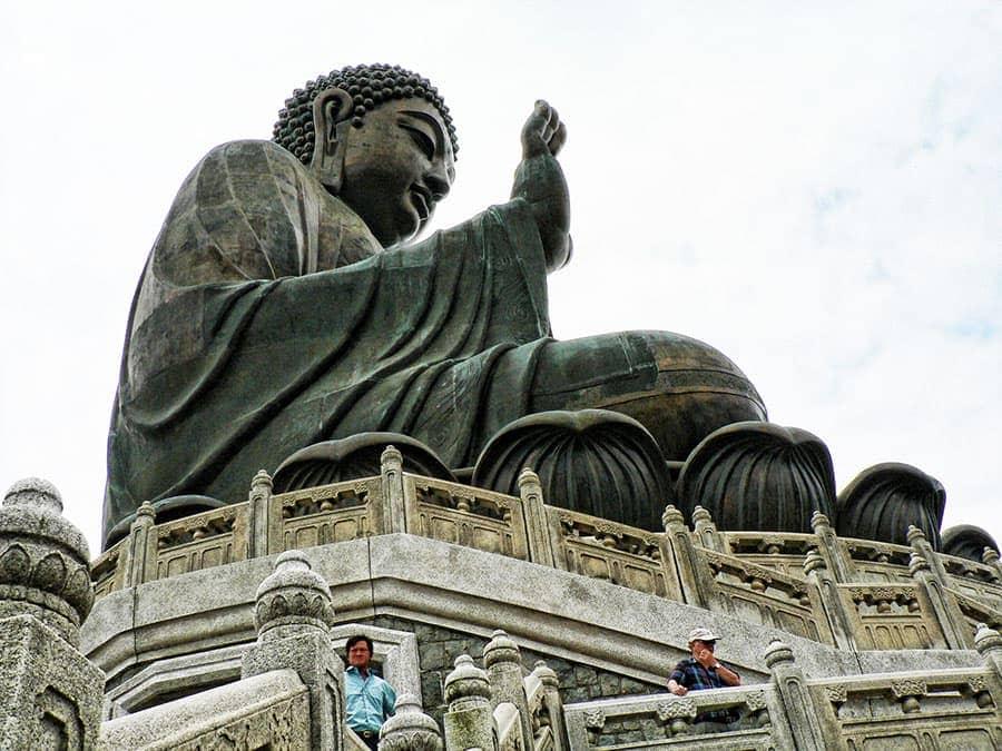 The Great Buddha statue in Hong Kong