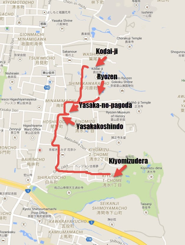 Walking Kyoto map 5