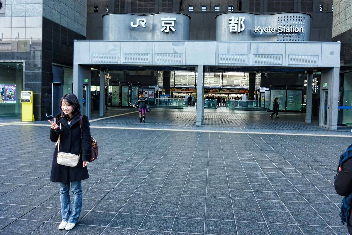 Kyoto station, the starting point for our self guided walking tour of eastern Kyoto