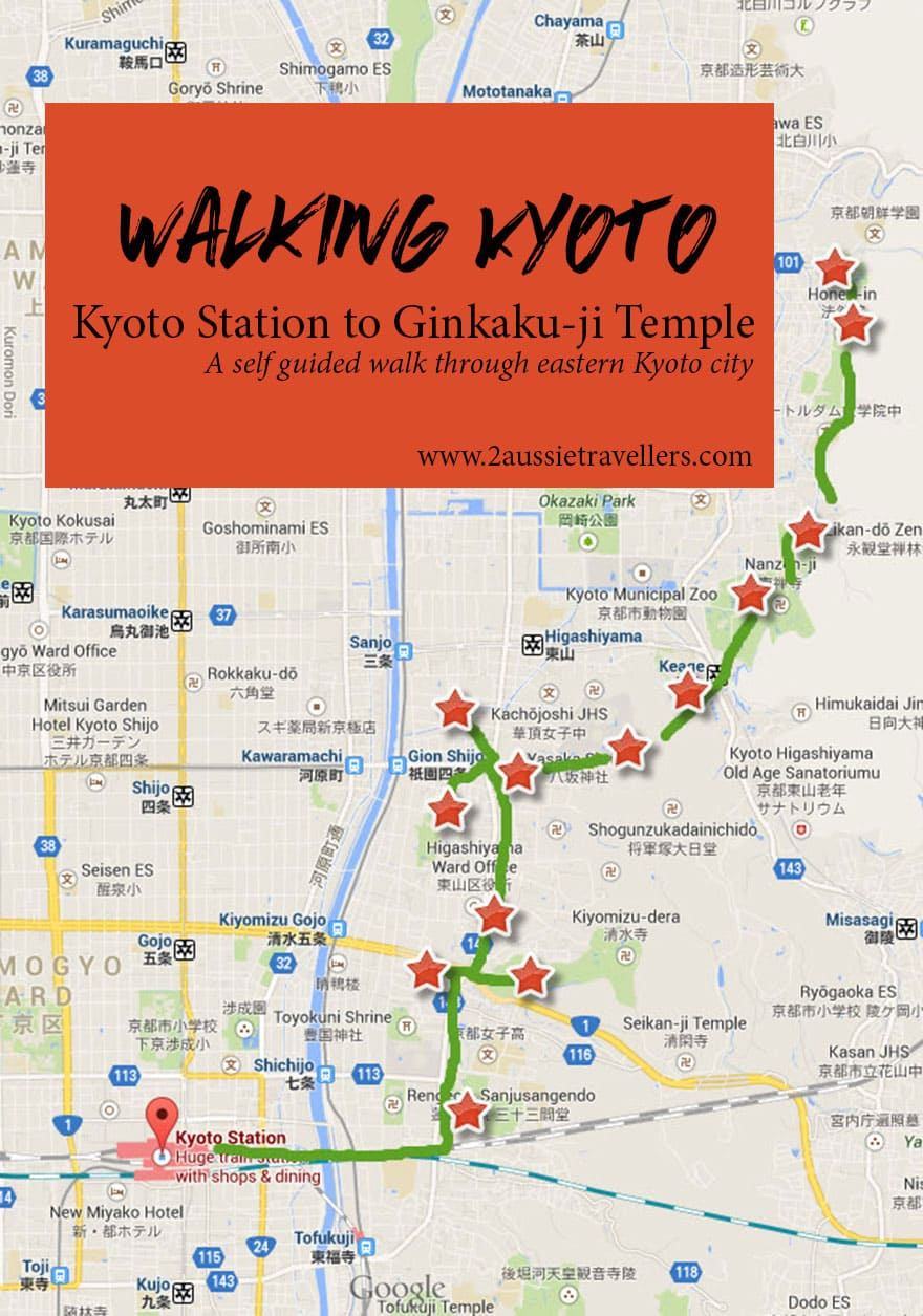 Walking Kyoto A guide to exploring eastern Kyoto