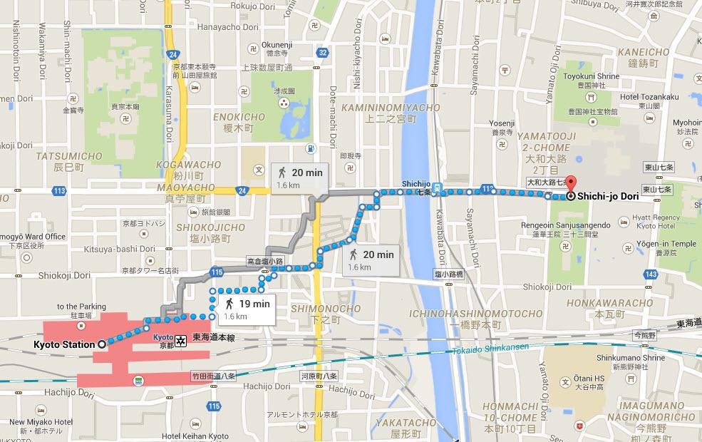 map to sanjusangendo