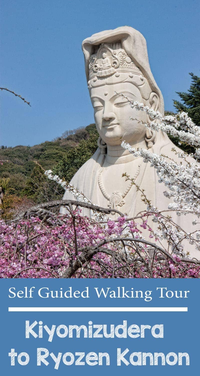 Kyoto self guided walking tour - Kiyomizudera to Ryozen Kannon