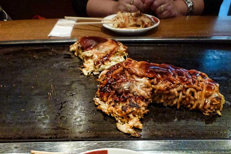 Okonomiyaki in Fukuoka