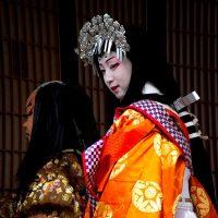 Child actors at the Nagahama Hikiyamai Festival in Japan