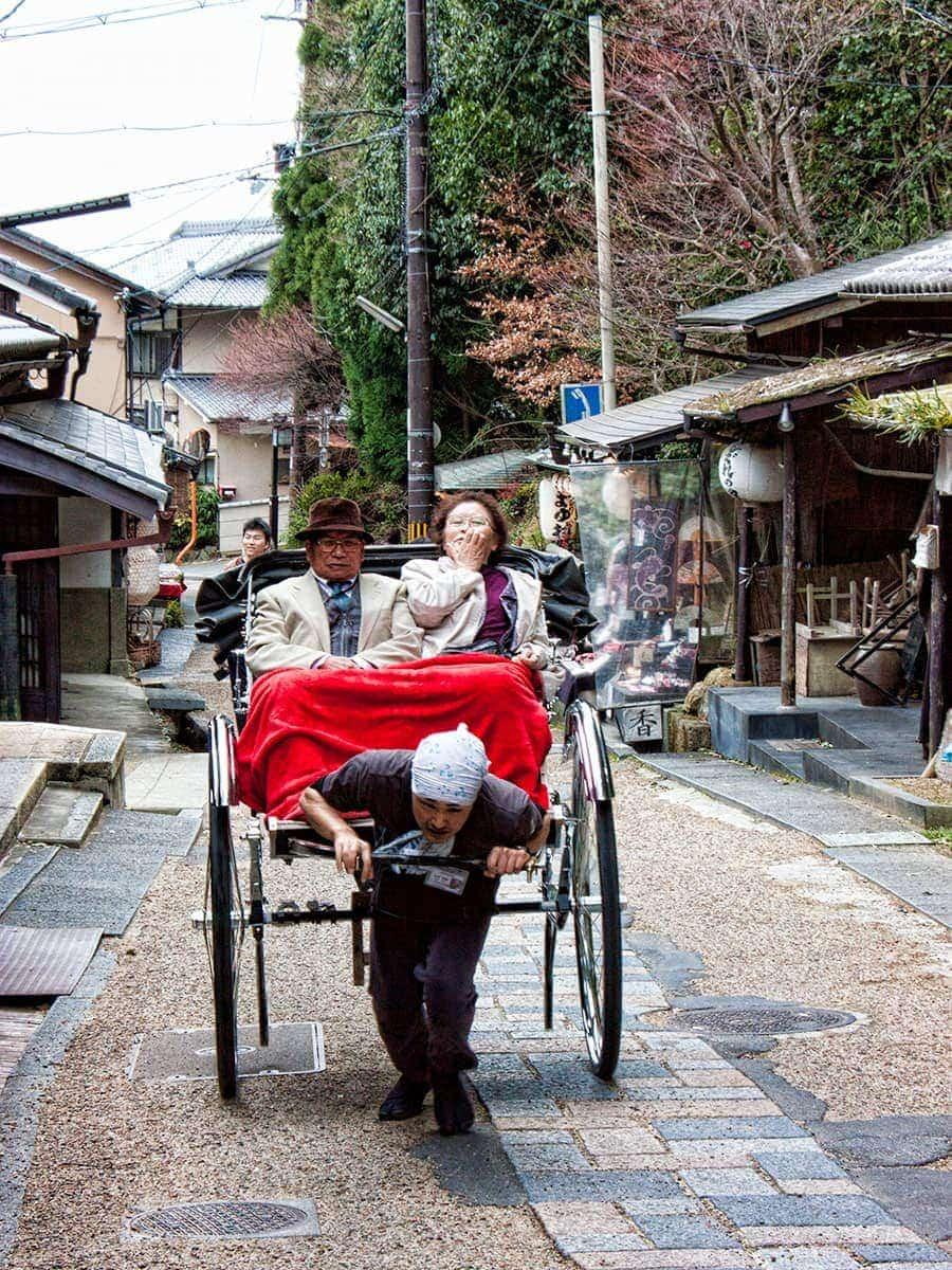 Ricksha in Arashiyama | www.2aussietravellers.com