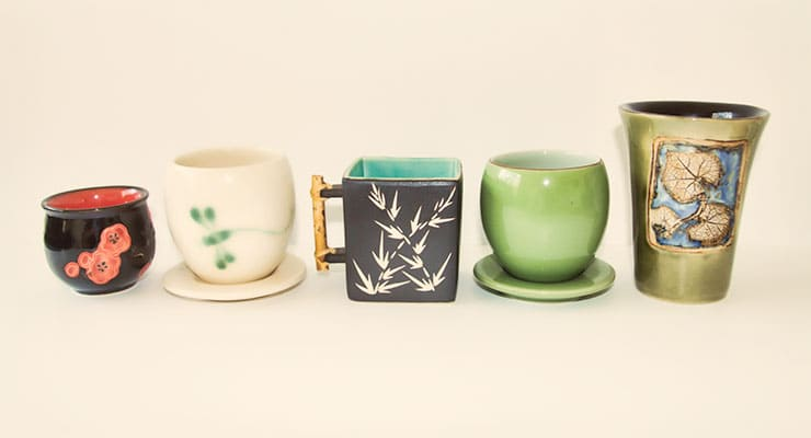 Japanese tea cups for enjoying traditional Japanese teas