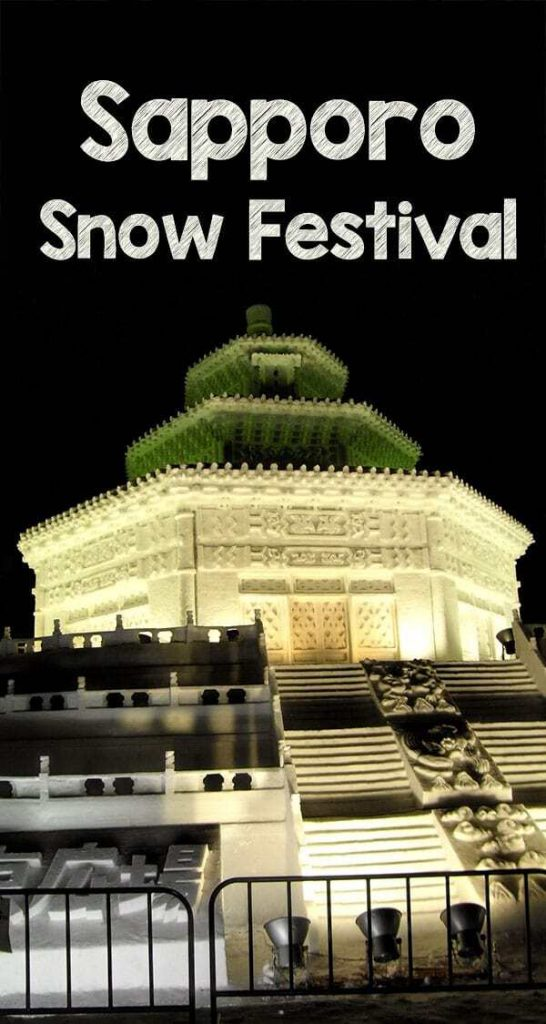 Visit the Sapporo Snow Festival held every February in Japan