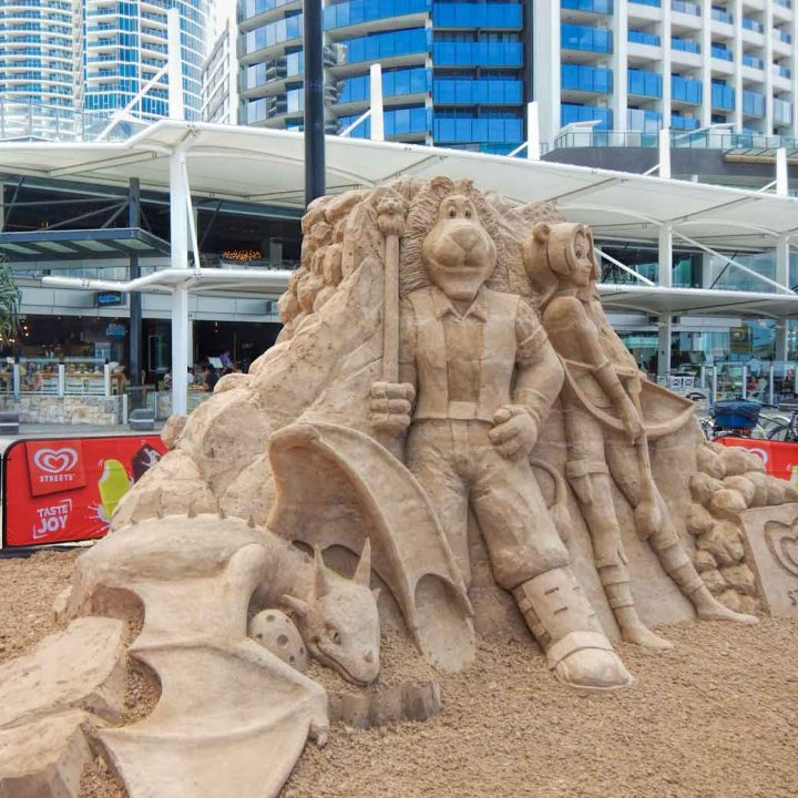 Sand sculpture at Beyond the Sand in Surfers Paradise