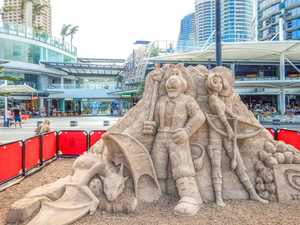 Sand sculpture at Beyond the Sand Art Festival