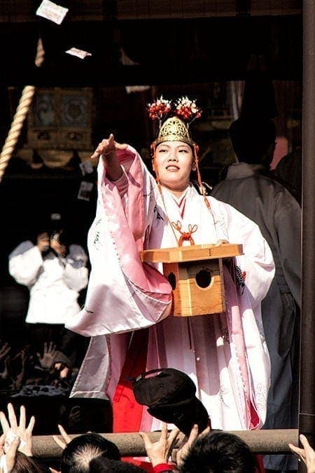 Miko-san at Setsubun