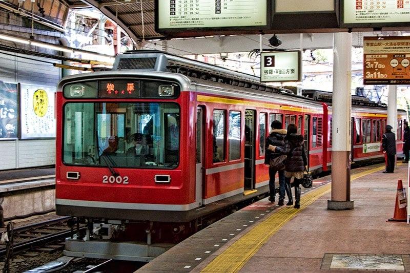 Hakone Tozen Train @ Odawara Station