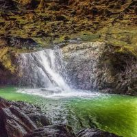 Inside the cave at the Natural Bridge in Springbrook National Park