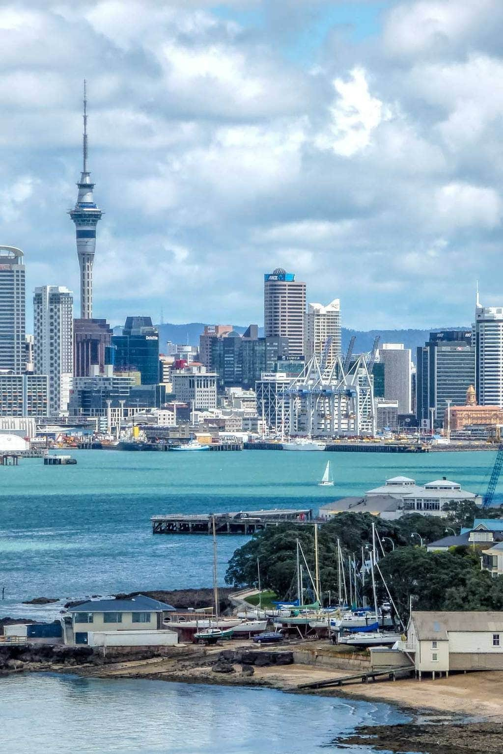 Devonport and Auckland city from North Head