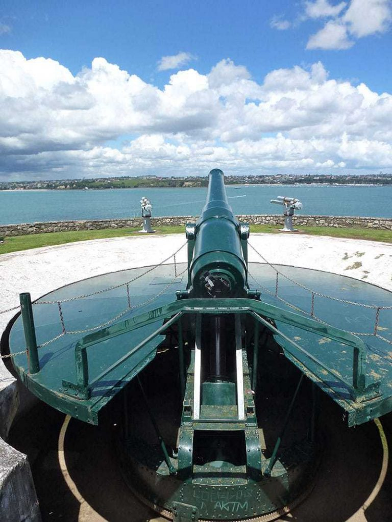 North Head heritage disappearing Gun placement