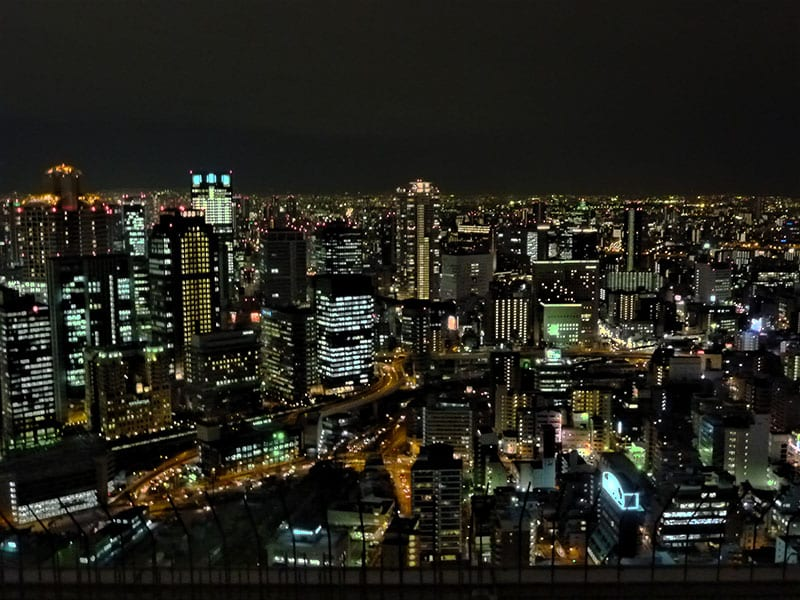 Osaka at night