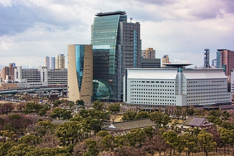 View from Osaka castle observation deck