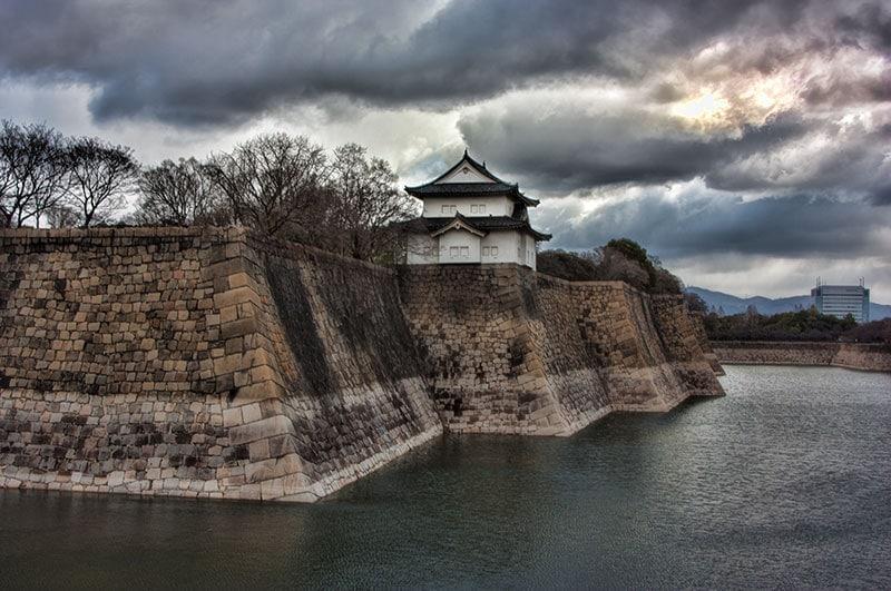 Osaka castle turret