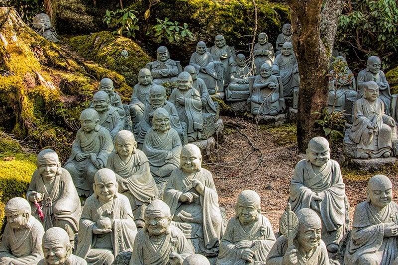 Daisho-in Rakan Statues