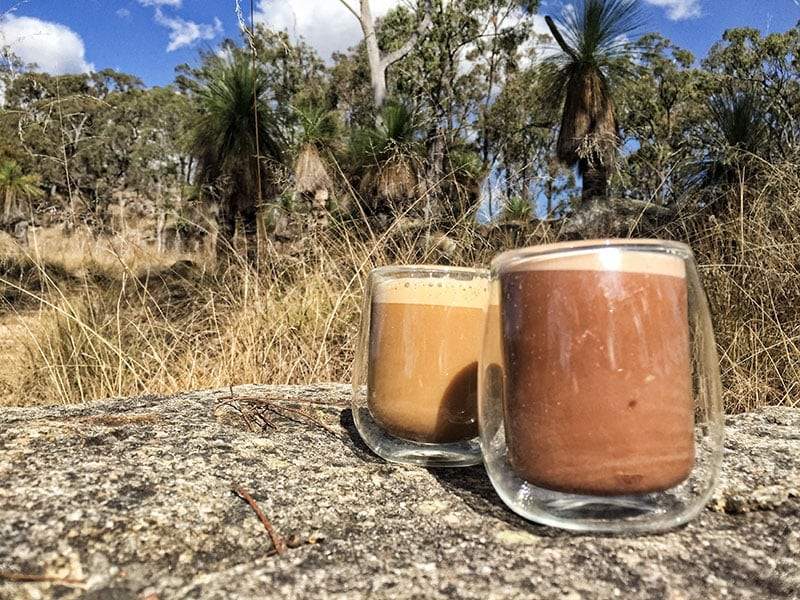 Coffee at Coomba Falls