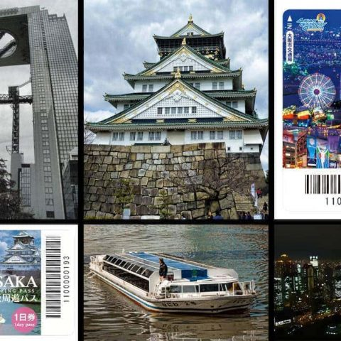 Osaka Amazing Pass collage of attractions