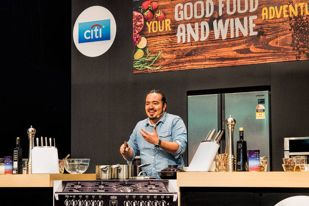The Brisbane Good Food and Wine show - Cooking demo with Adam Liaw