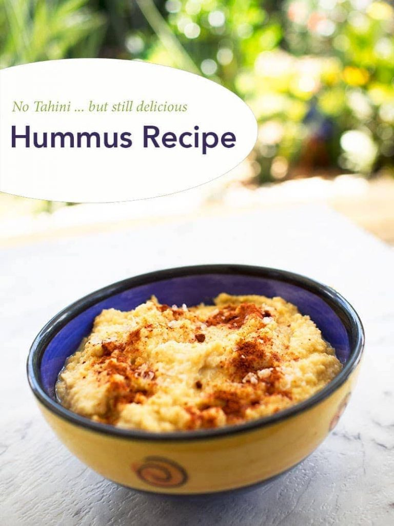 Quick and easy hummus recipe without the tahini paste