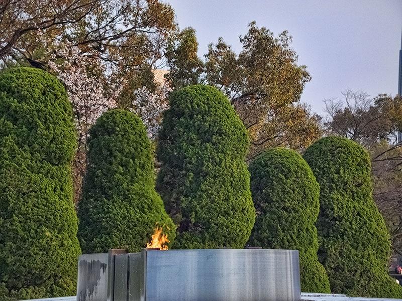 Hiroshima peace park flame of peace