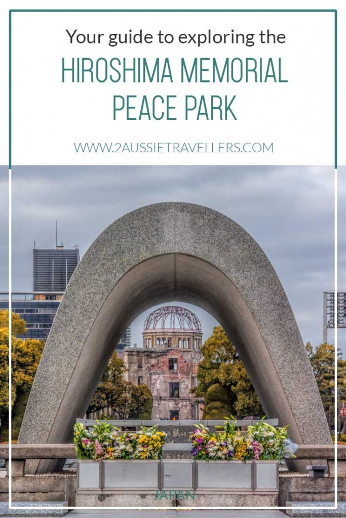 Hiroshima Peace Park image featuring peace flame and A bomb dome