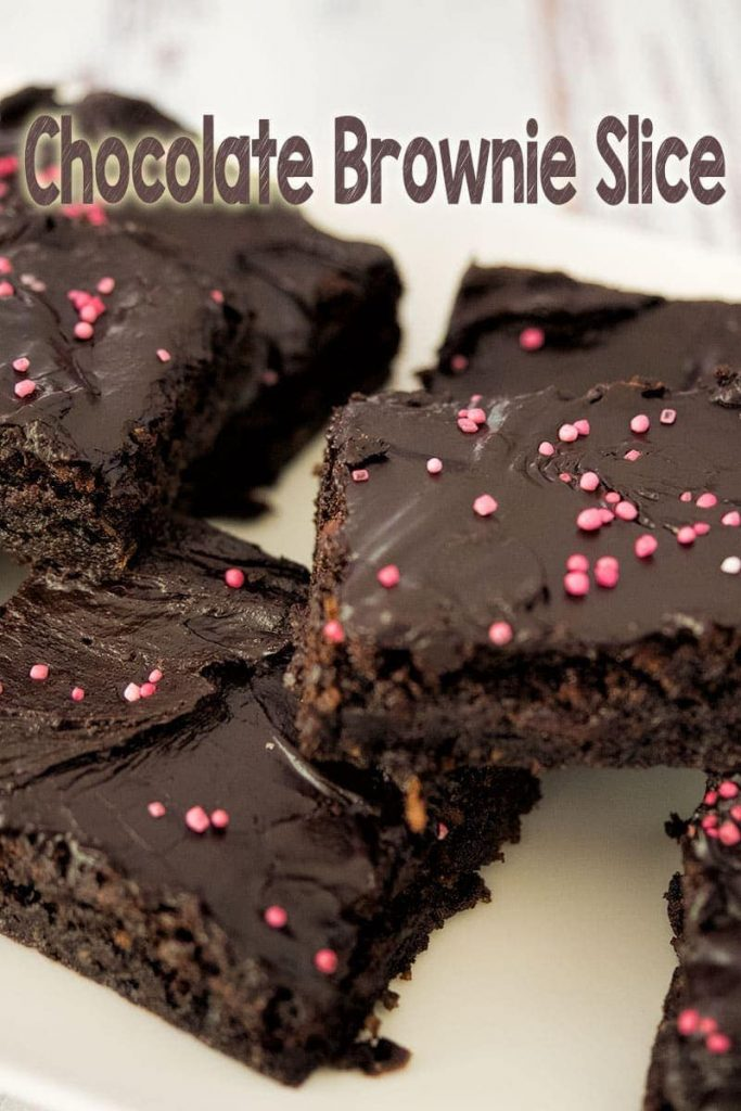 Rich, chewy and delicious - try this quick and easy chocolate brownie slice