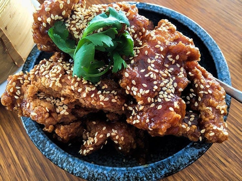 Tang Sui chicken ribs at Madam Wu in Brisbane