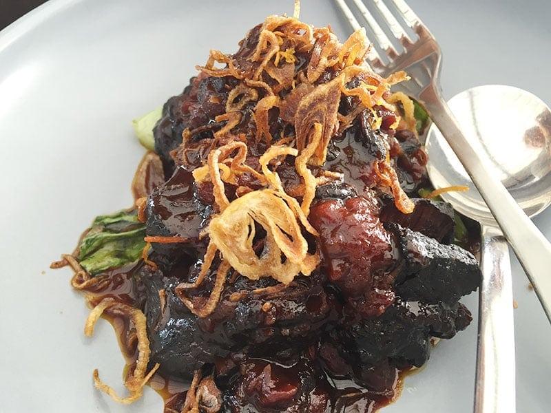 Braised beef cheeks at Madame Wu in Brisbane