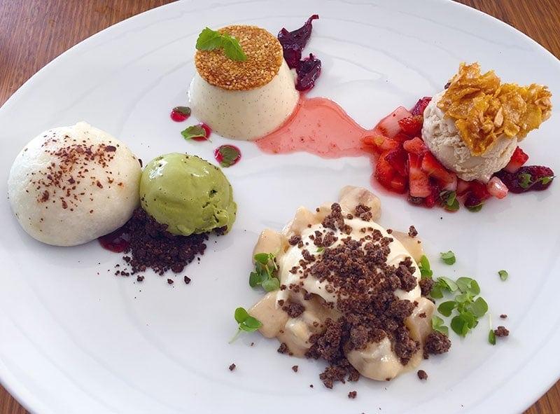 Dessert tasting platter at Madame Wu in Brisbane