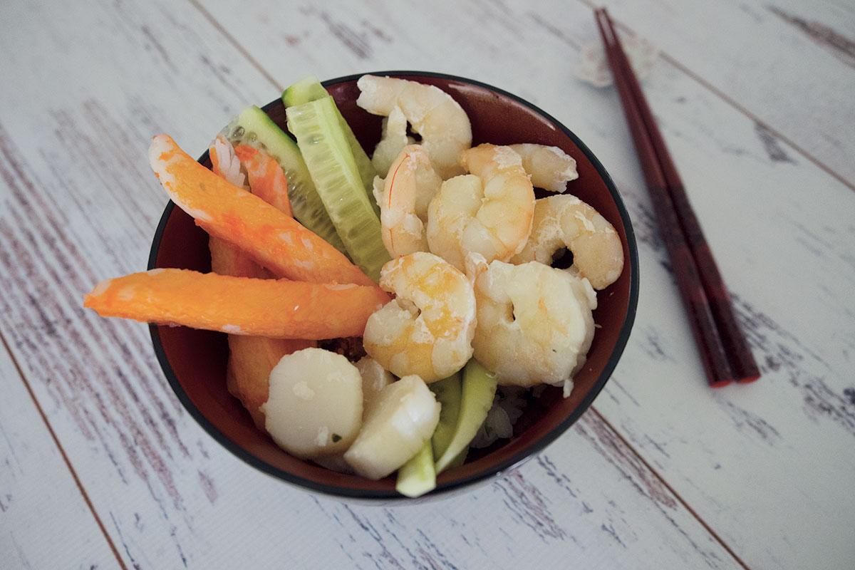 chirashi-zushi also called scattered sushi