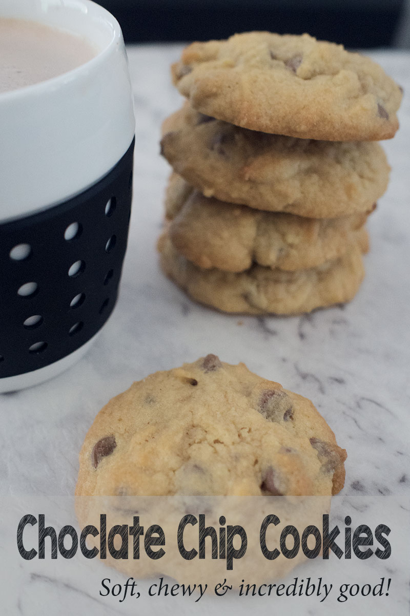Looking for a quick and delicious cookie to fill the tins this week? This soft and chewy chocolate chip cookie could be the one!