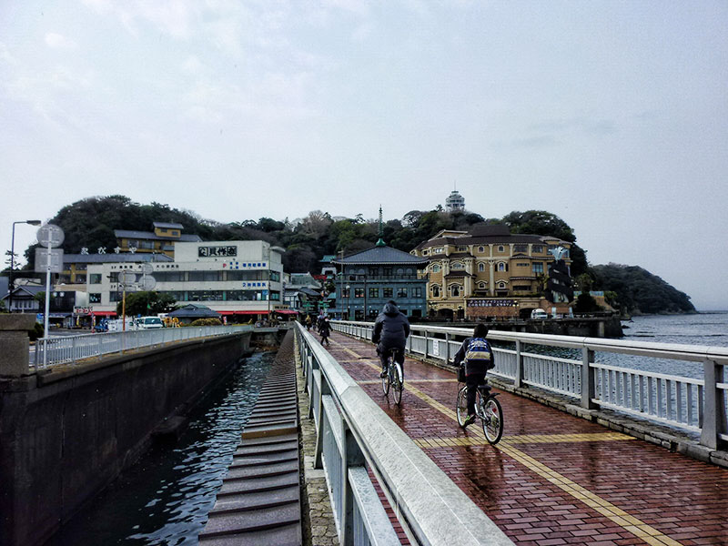 The causeway to Enoshima Island