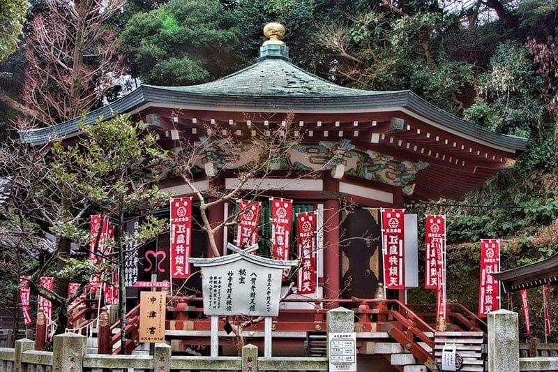 Hoan-den hall at Enoshima Island Shrine