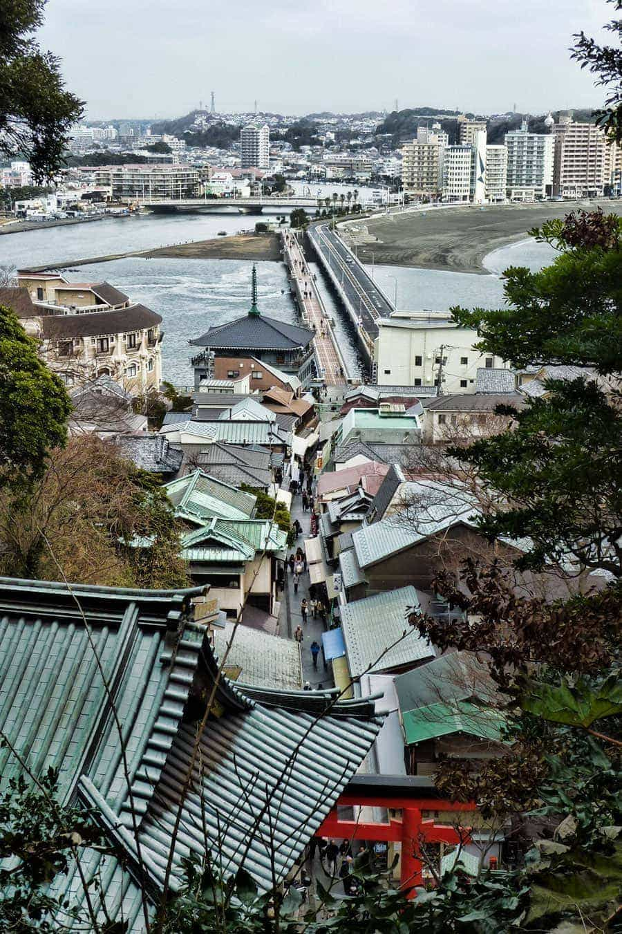 View from part way up Enoshima Island