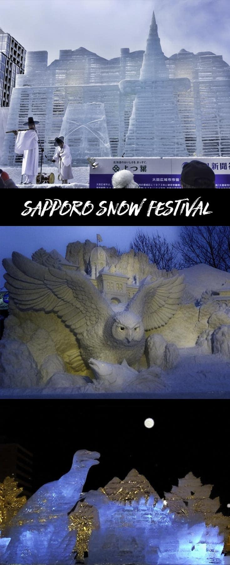 Sapporo Snow Festival in Japan