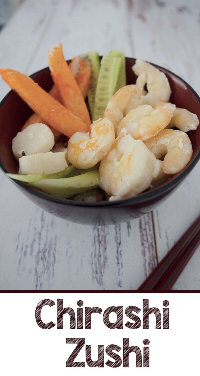 If you love seafood a bowl of chirashi zushi (scattered sushi) is the perfect quick dinner on a busy weeknight