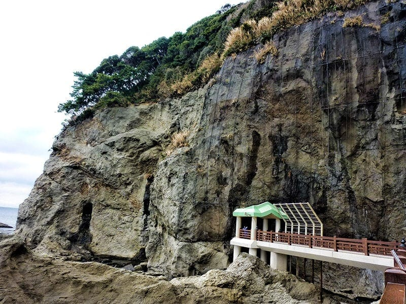 Entrance to Iwaya Caves on Enoshima Island