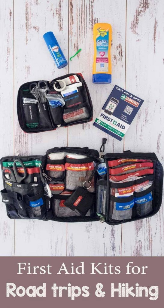 What are the essentials for a first aid kit when you're road tripping and hiking in Australia?