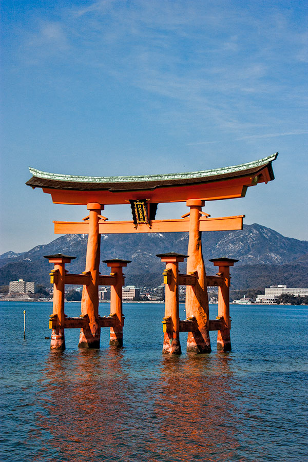 The floating torii at Miyajima Island