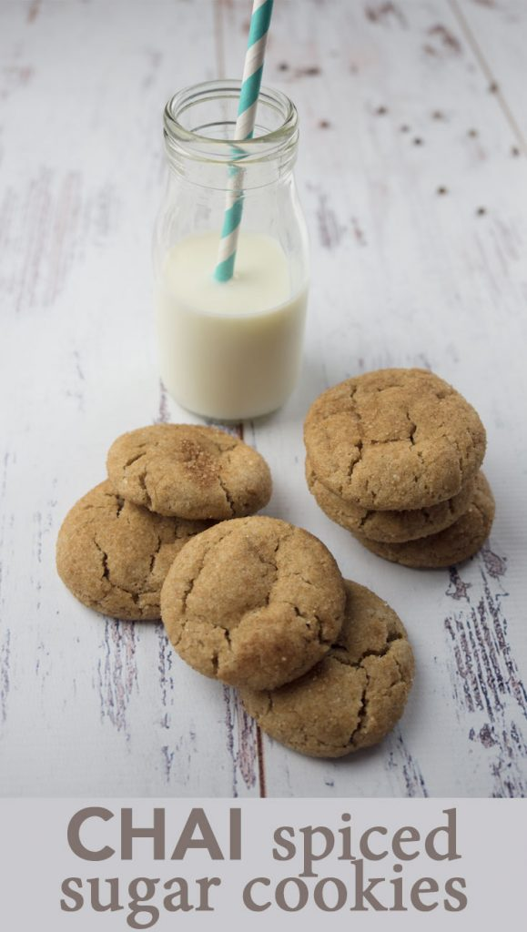 These soft and chewy chai spice sugar cookies (or biscuits for us Aussies and Kiwis) are divine, just like your best masala chai tea but a little naughty!