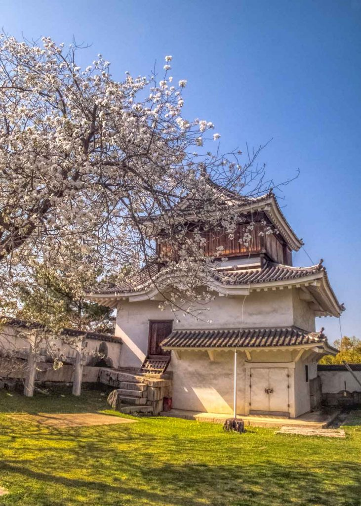 Moon viewing turret at Okayama Castle