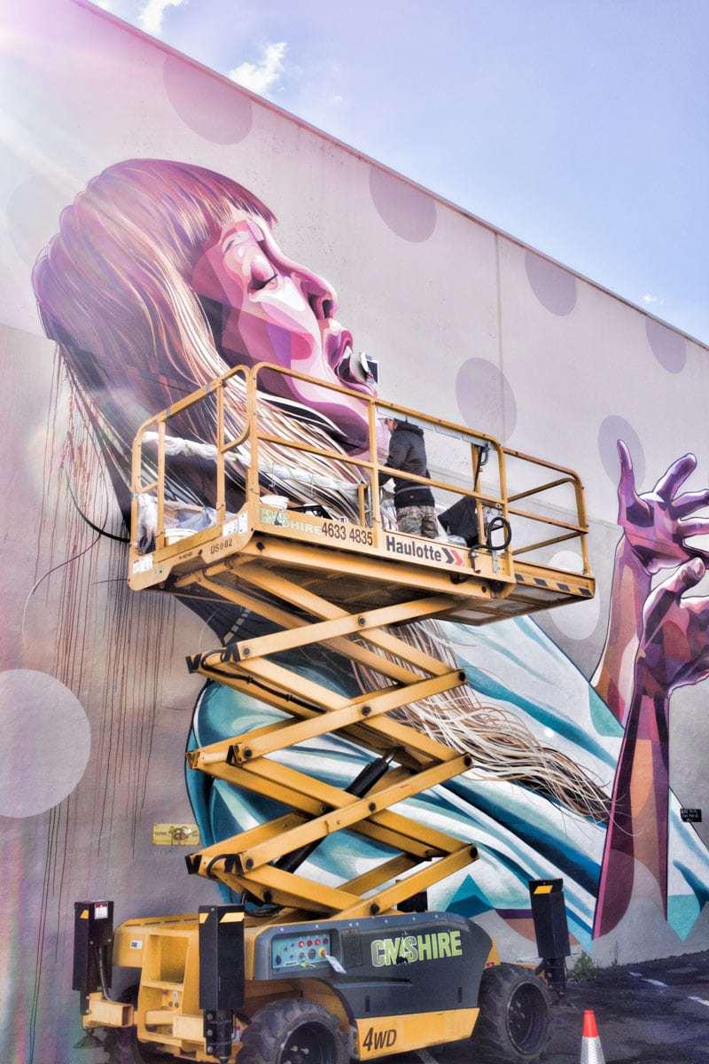 Designs underway at Toowoomba street art festival - Firstcoat